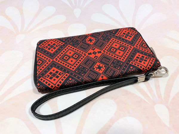 "Wallet ""Red and Black"""