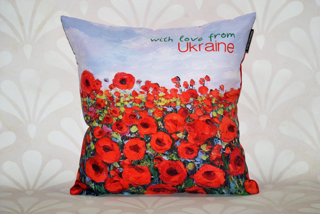 "Decorative Pillow - ""Field of Poppies"""