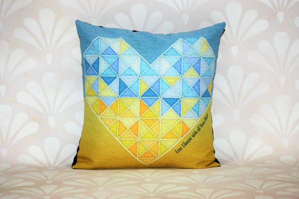 "Decorative Pillow - ""Ukie Heart"""