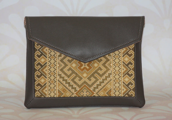 "Brown Envelope Style Clutch ""Dawn"""