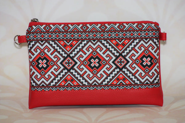 "Faux Leather Clutch ""Kalyna"""