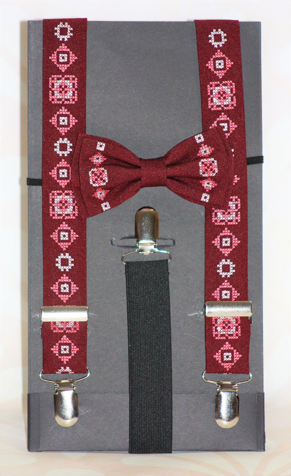 Boys Bowtie and Suspenders Combo - Various Colours