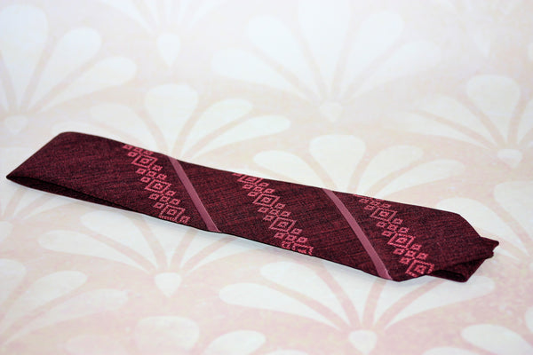 Striped Embroidered Necktie-Various Colours