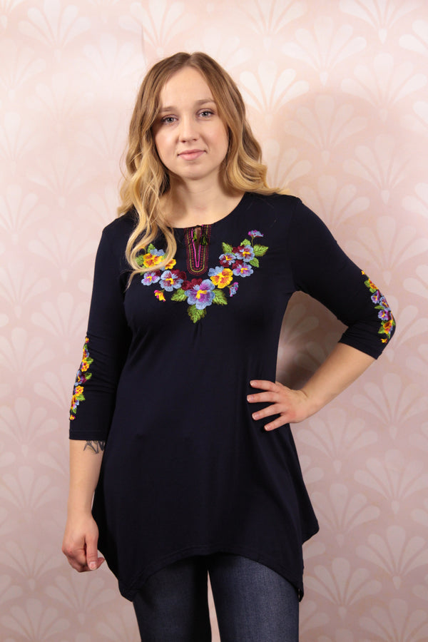 """Pansies"" Tunic"