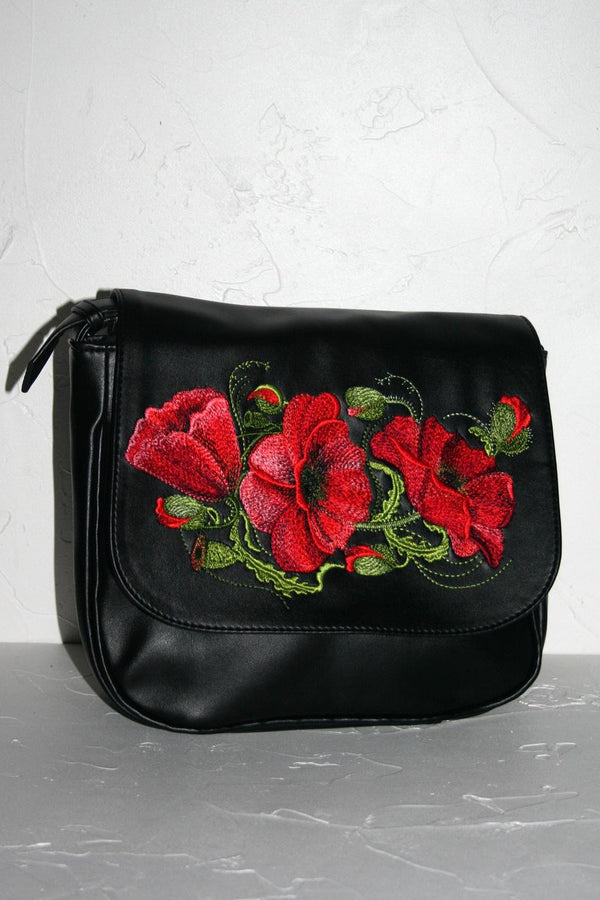 "Cross-Body Purse ""Poppies"""