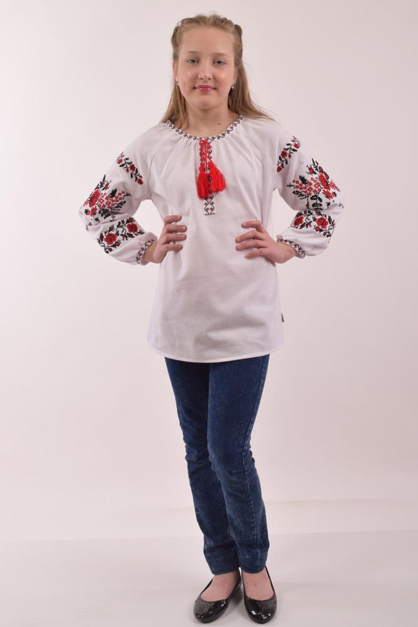 "Girl's Blouse ""Roses"""