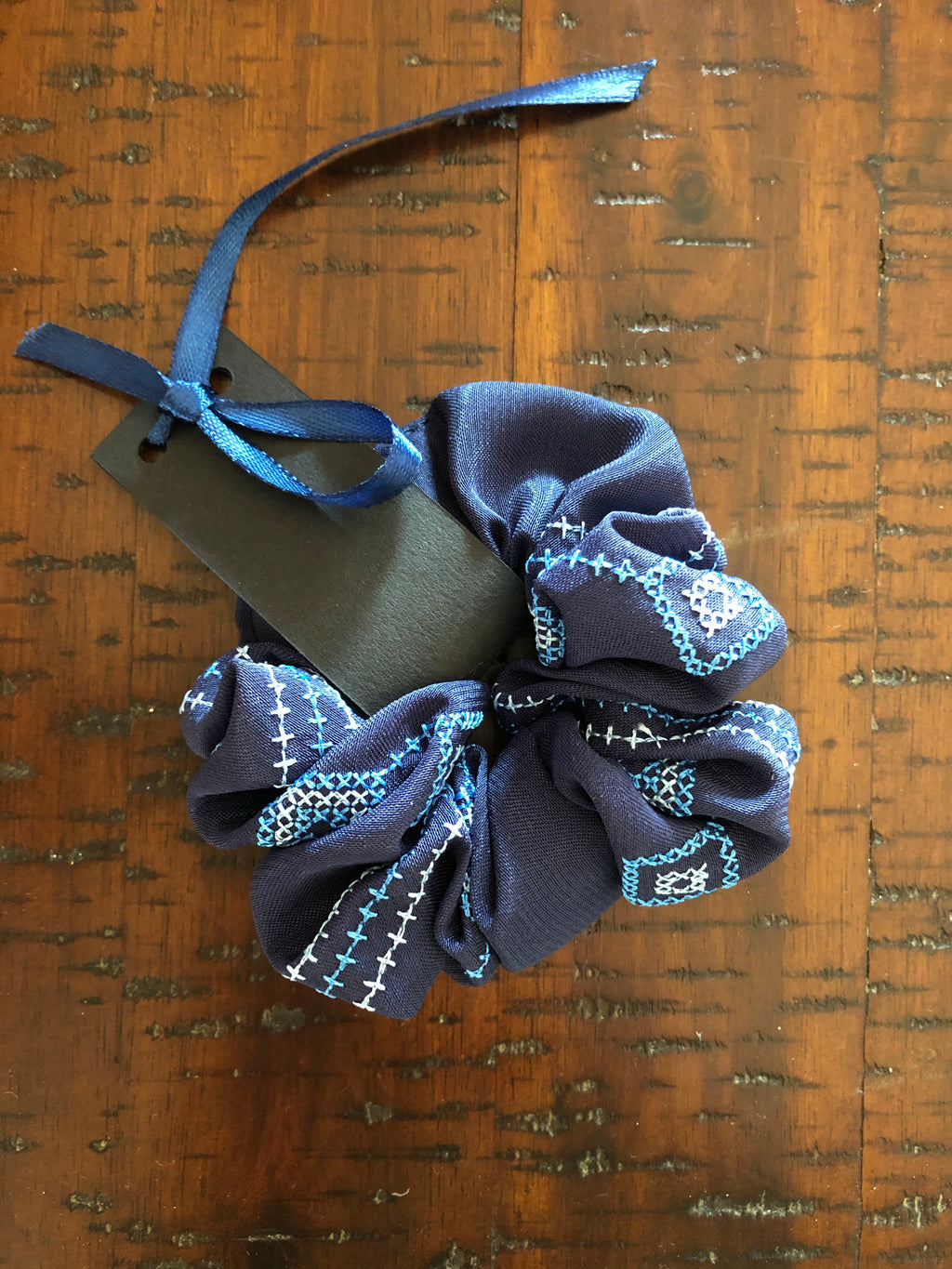 Embroidered Scrunchies
