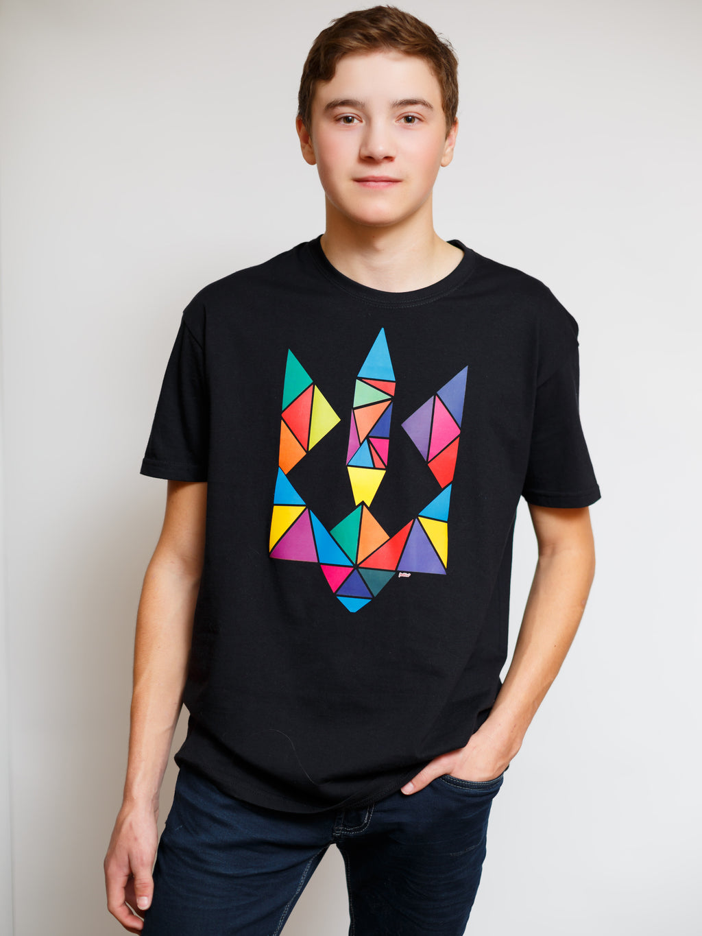 Men's Multicoloured Tryzub T-Shirt