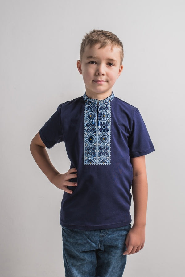 "Boy's Navy T-shirt ""Oberih"""