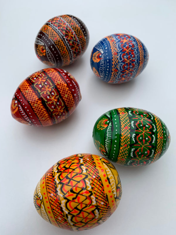 Wooden Pysanky - Large