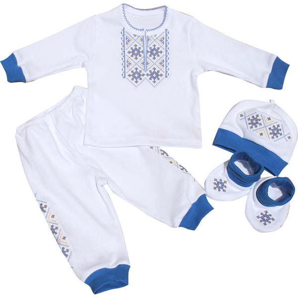 Baby Boy Embroidered Set