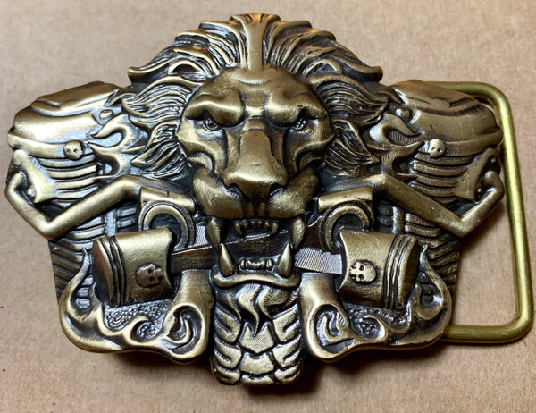 "Belt Buckle - ""Fiery Lion"""