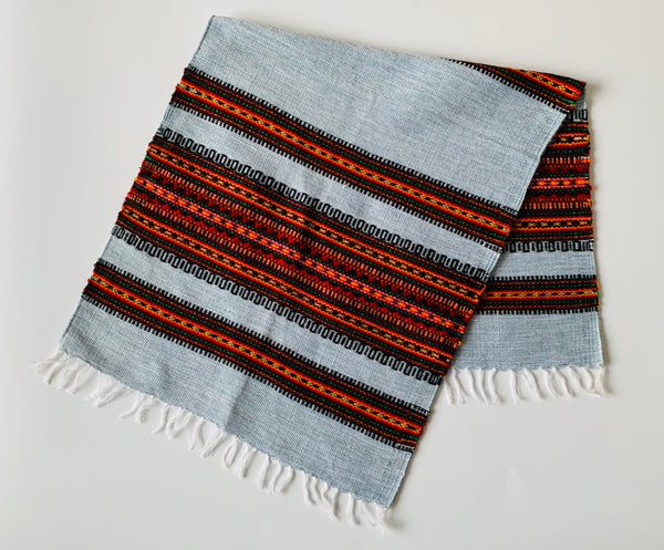 Woven Table Runner- Grey