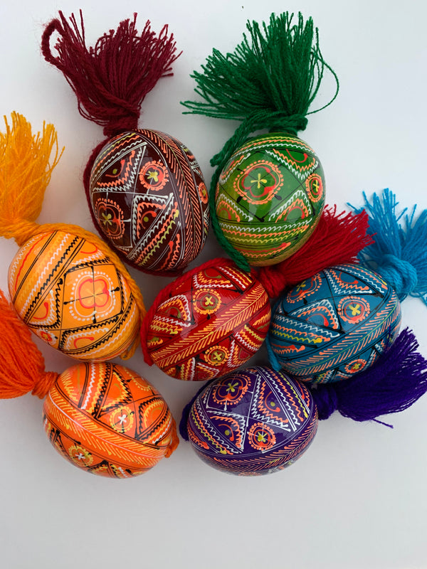 Decorative Wooden Pysanky