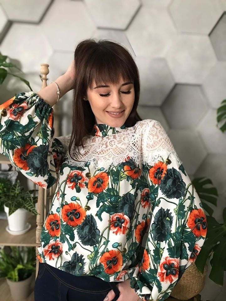 "Blouse ""Poppies"""