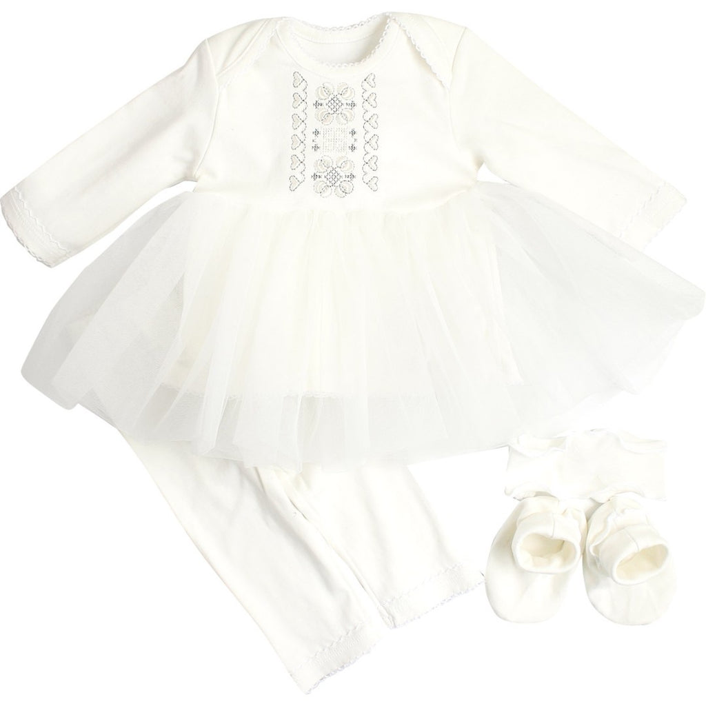 Baby Girl Embroidered Christening Set
