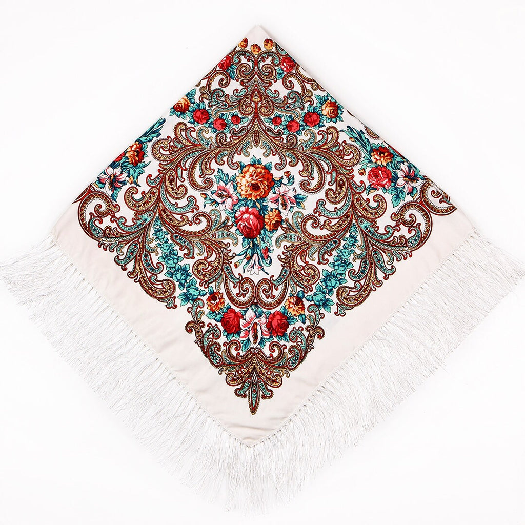 Chic Shawls- Flowers in the Snow