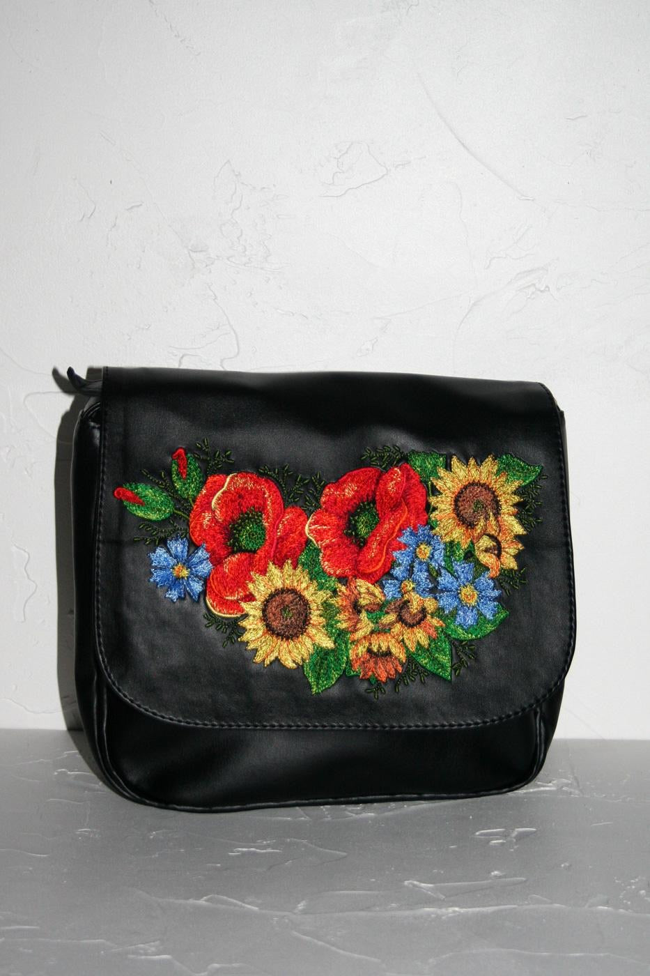 "Cross-Body Purse ""Ukrainian Bouquet"""