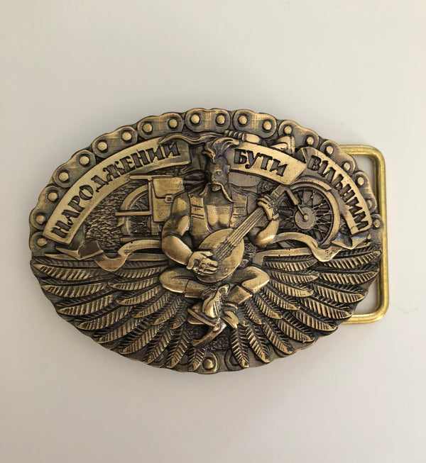 "Belt Buckle - ""Born to be Free"""
