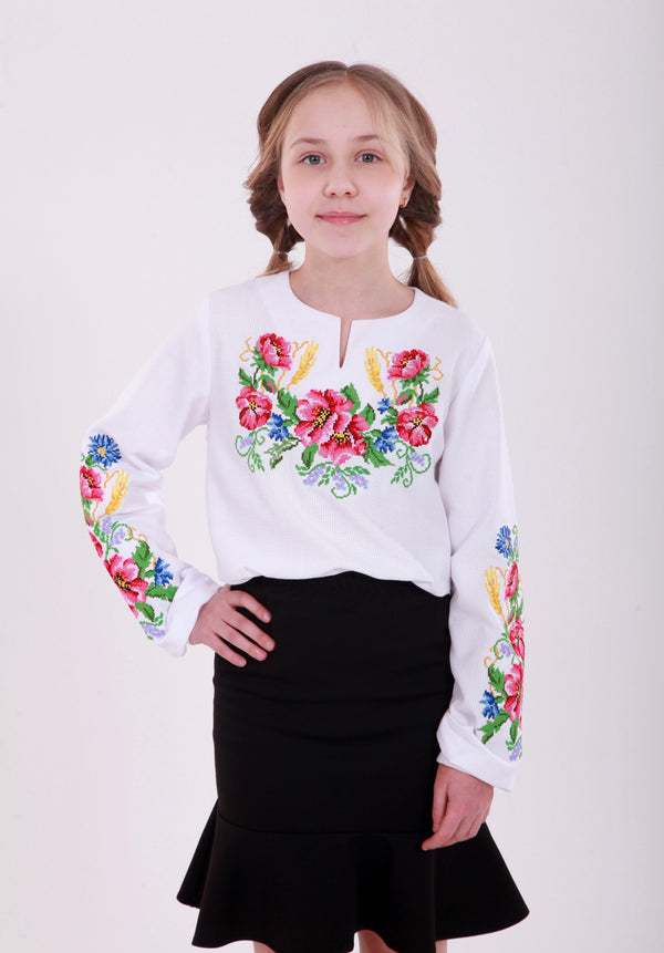 "Girl's Blouse ""Flowers"""