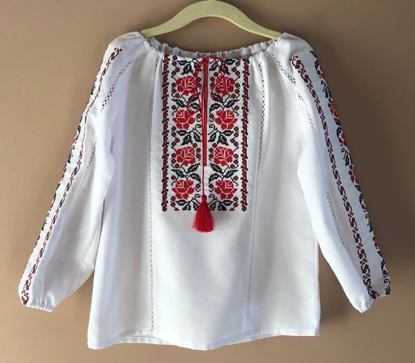 "Girl's Poltava Blouse ""Rose"""