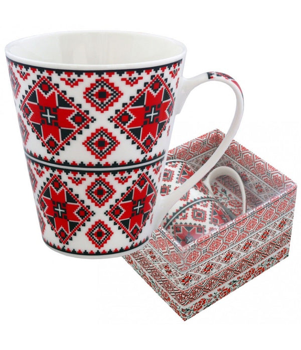 """Embroidered"" mugs"