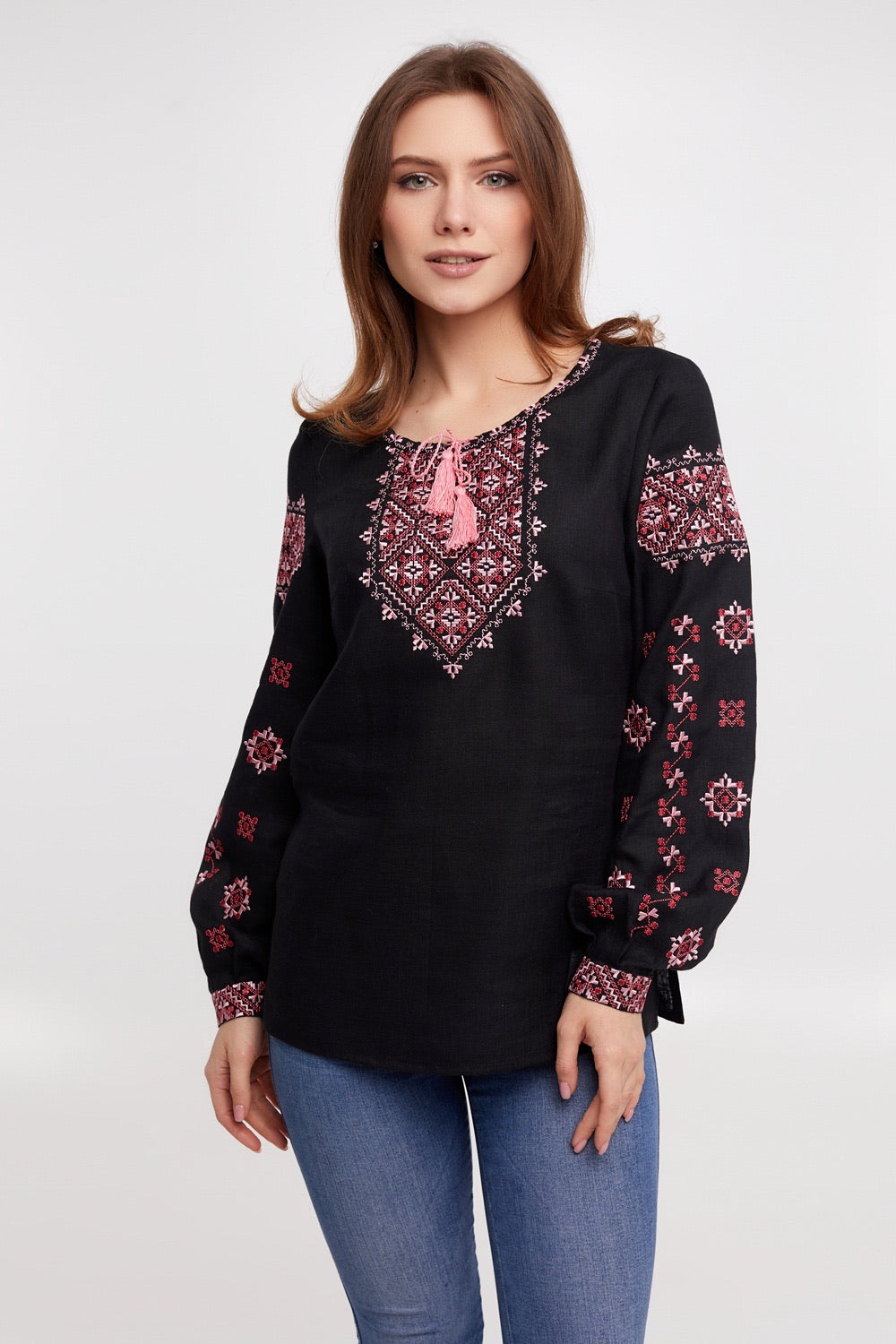 "Embroidered Linen Blouse - ""Jasmina"""