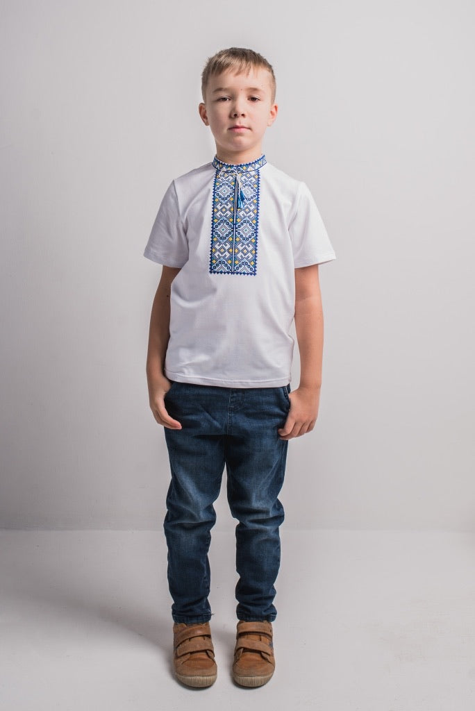 "Boy's White T-shirt ""Oberih"""
