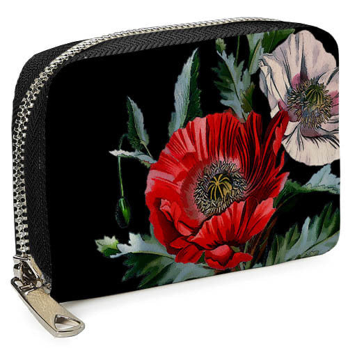 "Ecoleather Wallet ""Poppies"""