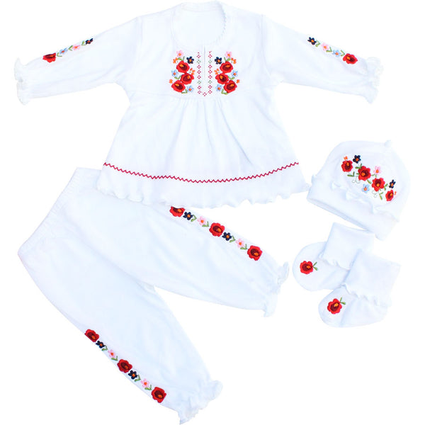 Baby Girl Embroidered Set