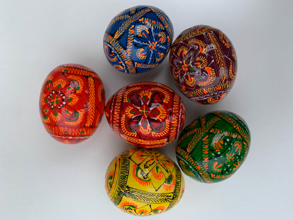 Wooden Pysanky- Medium