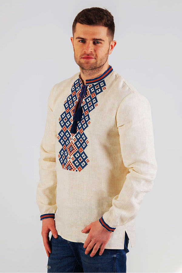 Retro Embroidered Men's Shirt