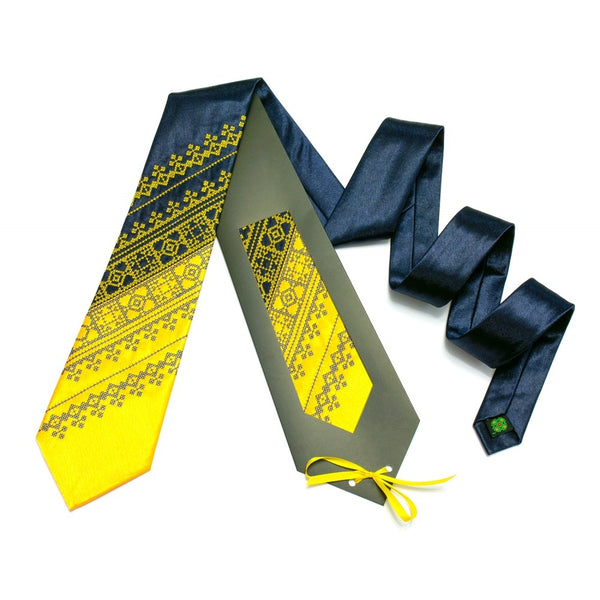 Blue and Yellow Necktie