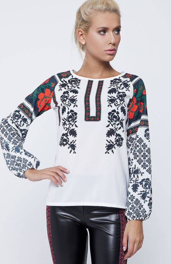 Printed Embroidery Blouse