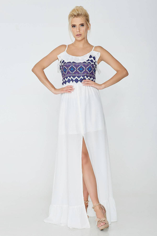 White Summer Sleeveless Dress