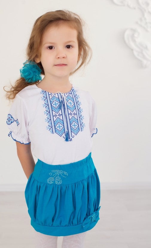 "Girl's Embroidered T-shirt ""Hutsulka"""