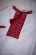Baby Boy Red Embroidered Set