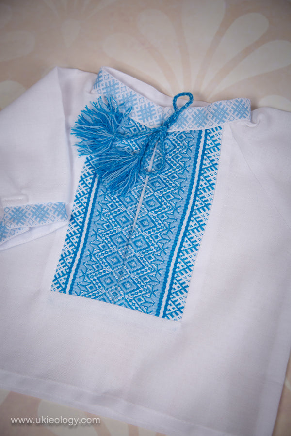 Baby Boy Blue Embroidered Set