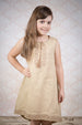 Girl's Tunic with Brown and Beige Embroidery
