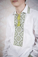 Boy's Green Embroidered Shirt with Collar