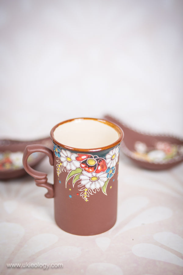 "Tea Mug (Tall) ""Flowers"" 350 ml"