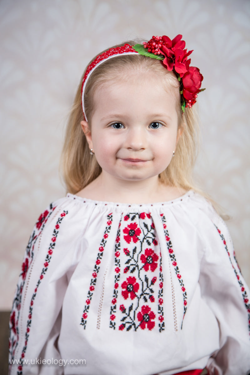 White Headband With Red Flowers Ukieology Fashion And Decor