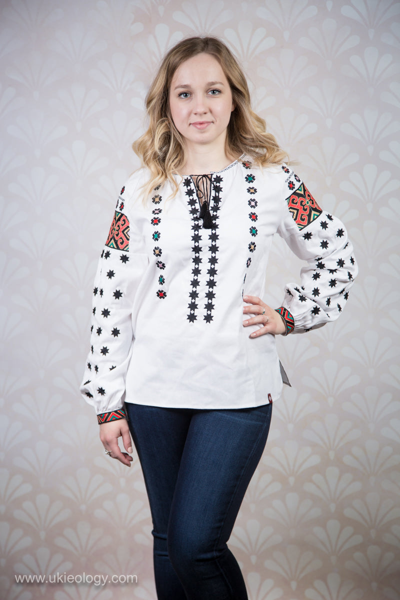 White Embroidered Blouse