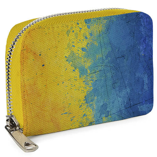 "Ecoleather Wallet ""Blue and Yellow"""