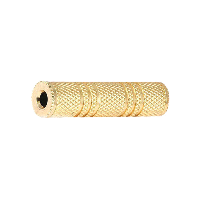 SatelliteSale Stereo Jack 3.5mm Female to 3.5mm Female Gold Plated Metal Adapter