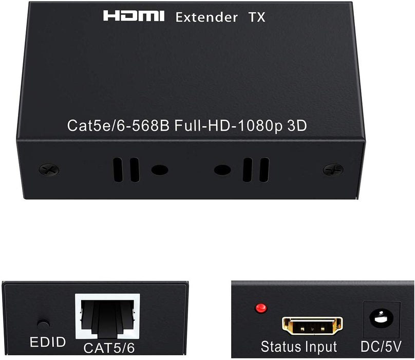 SatelliteSale HDMI Extender Adapter Over RJ45 Cat5-e Cat6 Cable