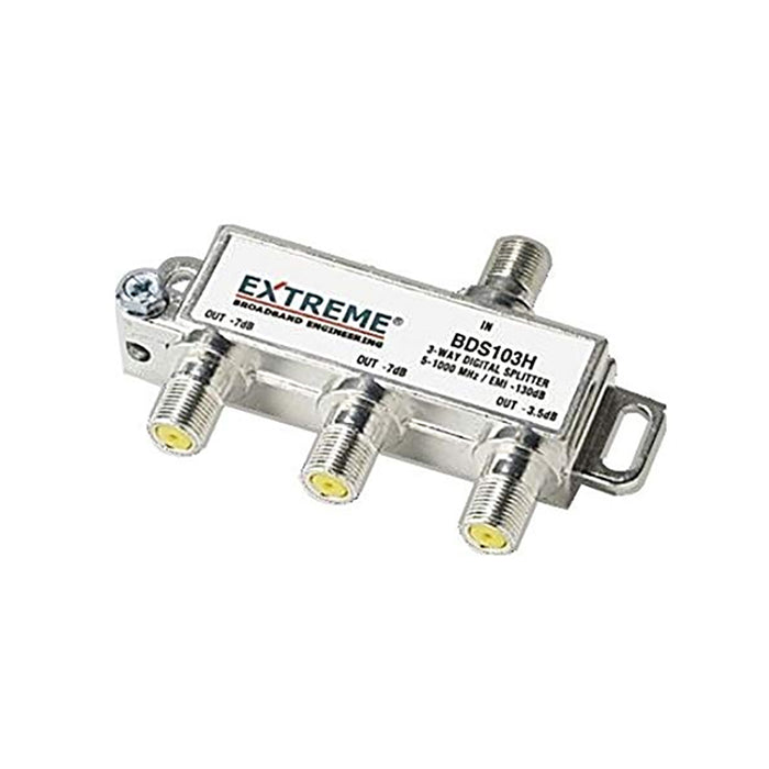 Extreme/Amphenol 3-Way Unbalanced HD Digital 1GHz Coax Cable Splitter - BDS103H