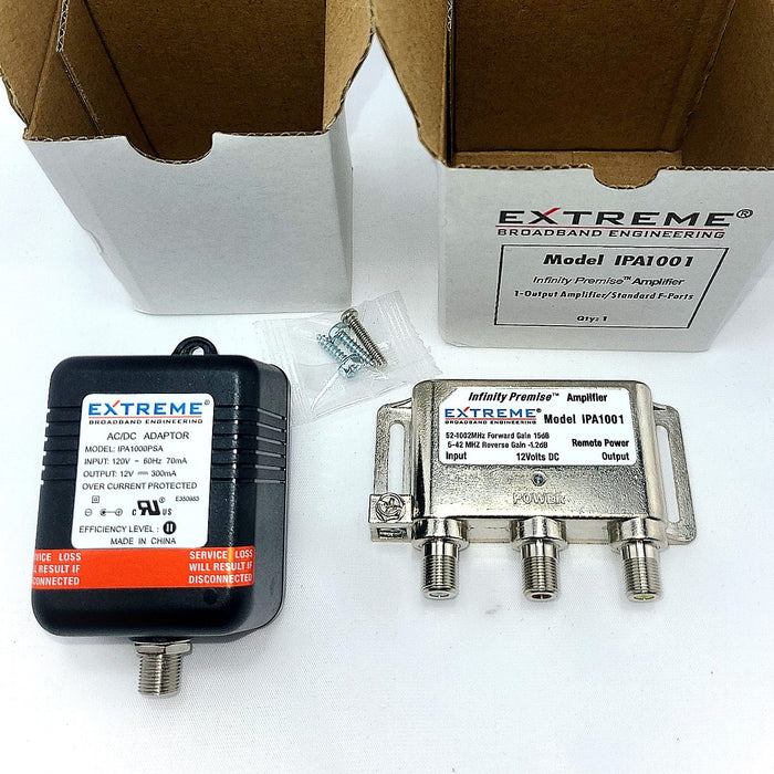 Extreme Broadband Infinity Premise Amplifier Silver Color IPA1001