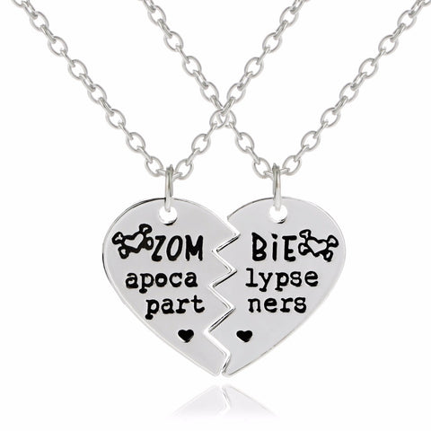 'Zombie Apocalypse Partners' Two-In-One Necklace