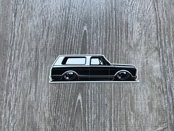 Laid Out 72 Blazer Sticker
